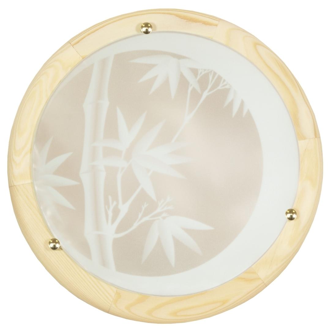 Bamboo Lampa Sufitowa Plafon 30 Drewno Standard 1X60 W E27 Sosna
