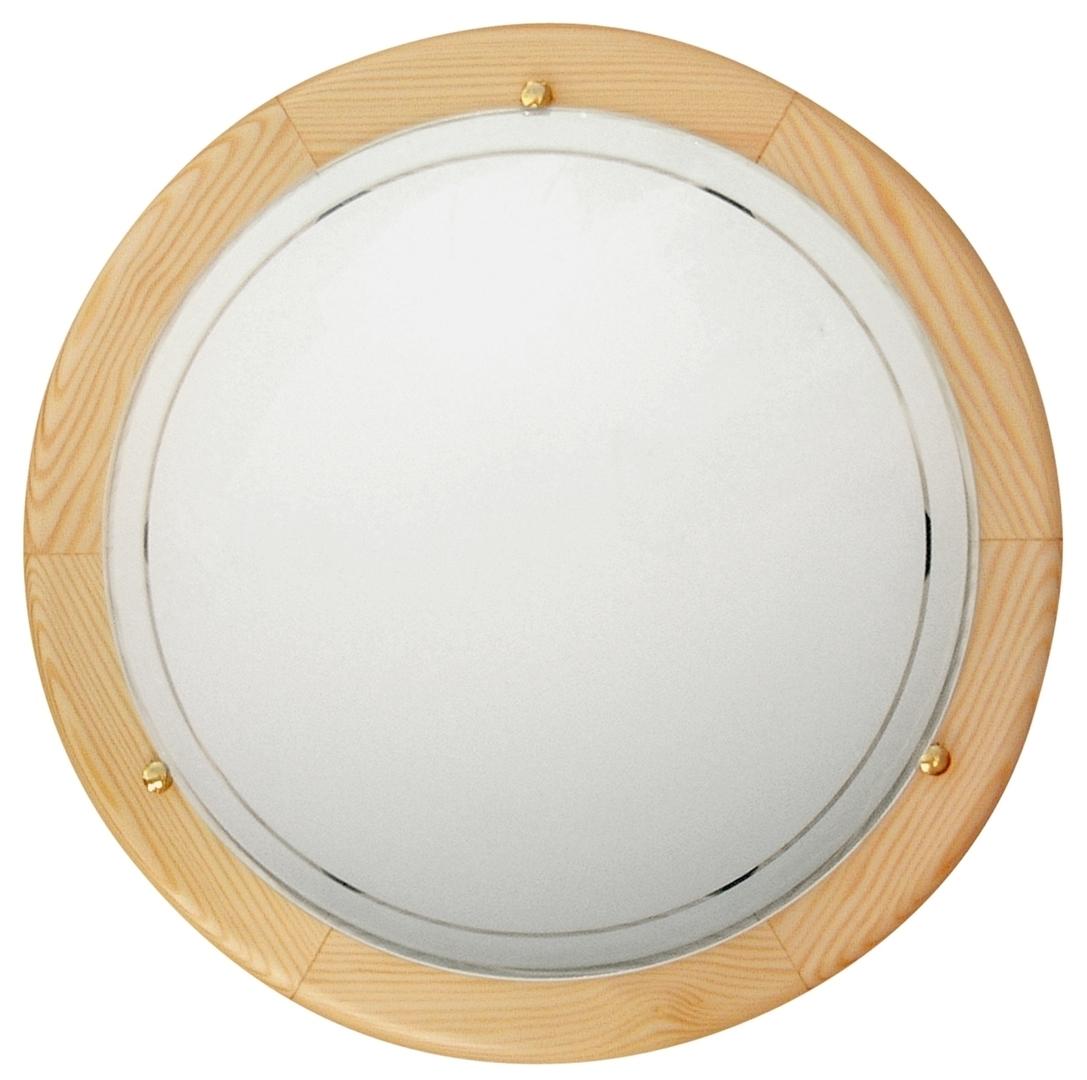 1030 Lampa Sufitowa Plafon40 Drewno Standard 2X60W E27 Sosna