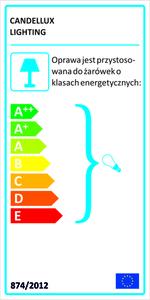 Arlekin Lampa Wisząca 35 1X60W E27 Niebieski small 1