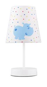 Hippo Lampa 1X40W E14 Płótno Niebieski Promocja small 0