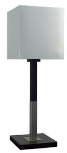 Favorita Lampa Gabinetowa Duża 1X60W E27 Drewno Z Abażurem Srebrnym 23X23H25 small 0