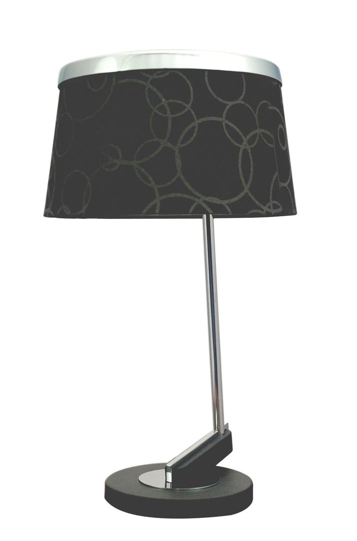 Impresja Lampa 1*60W E27 Czarna Chrom