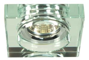 Ss-16 Ch/Wh Mr16 Chrom Oczko Sufitowe  Lampa Sufitowa. Strop. Stała Kwadratowa Szkło Bezbarwne small 0