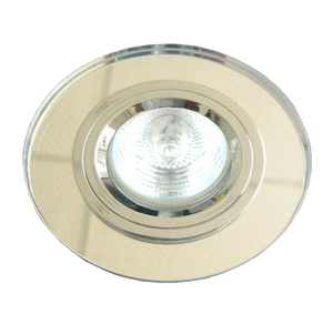 Ss-15 Ch/Wh Mr16 Chrom Oczko Sufitowe  Lampa Sufitowa Stała Okrągła Szkło Bezbarwne small 0