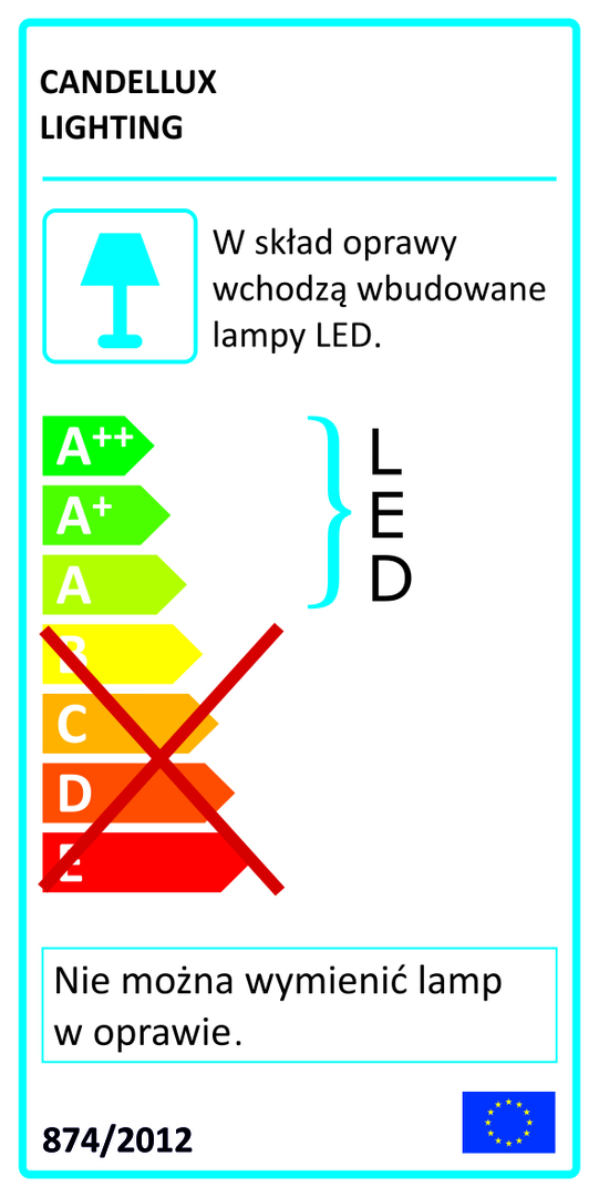 Lampa Sufitowa Gandava Plafon 24W Led Biało Drewniany 4000K