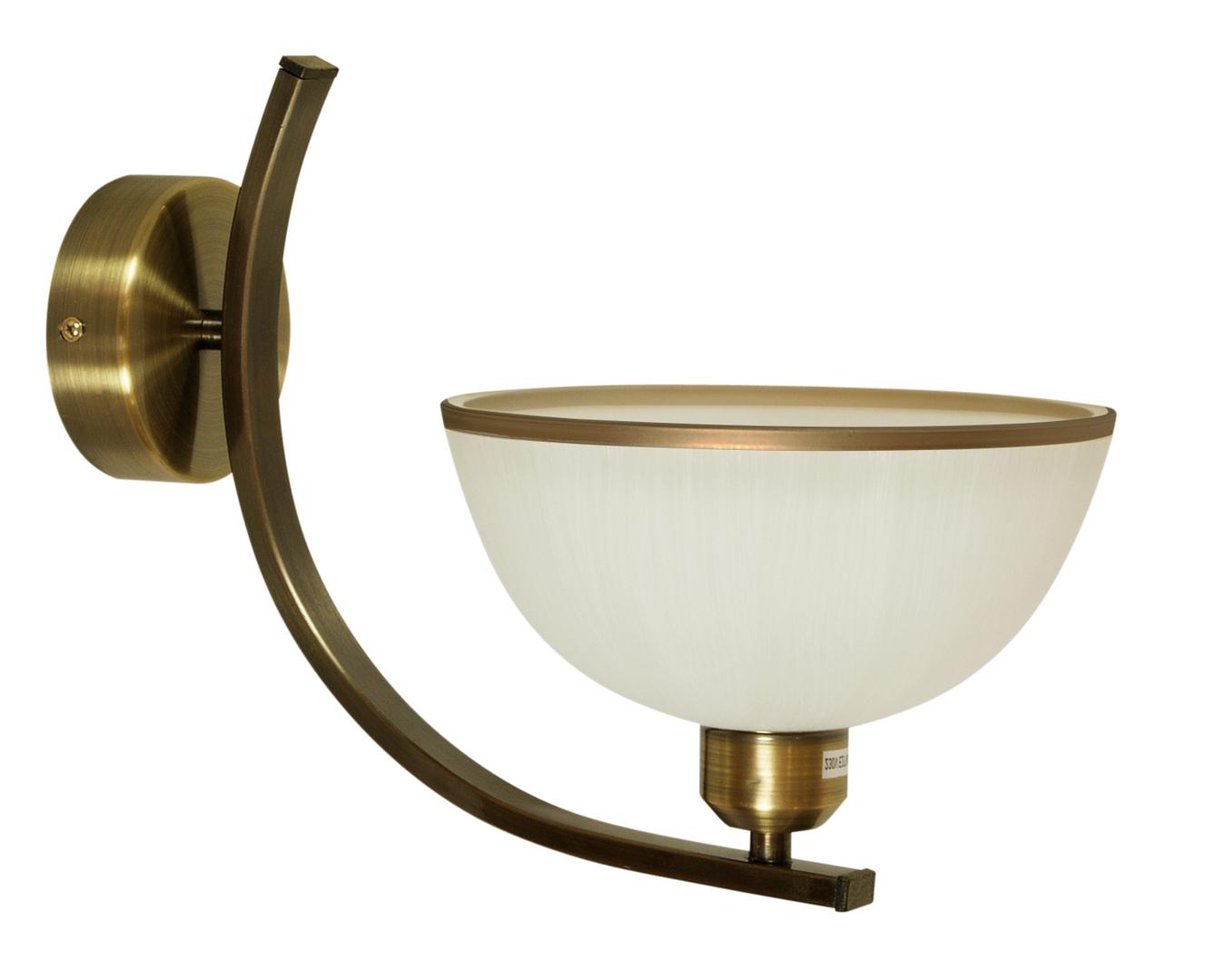 Lampa Mandarin Kinkiet 1X60W E27 Klosz Z Paskiem Ciemna Patyna