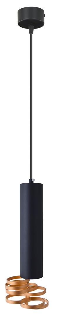 Lampa Wisząca Tuba 1X25W Gu10 7/30 Złoty+Czarny