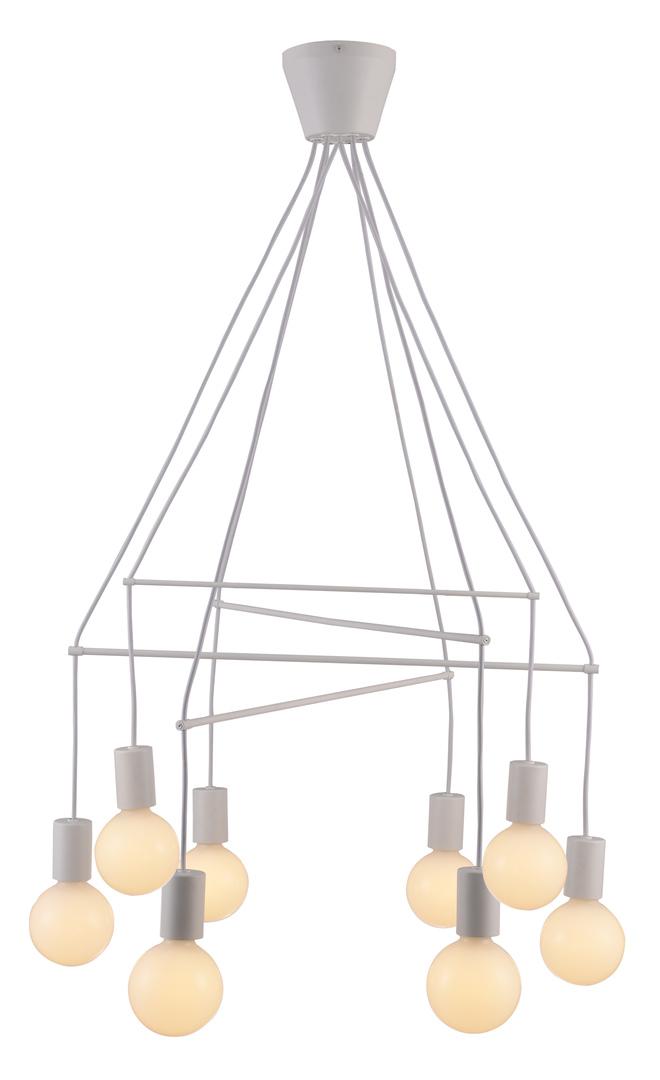 Alto Lampa Wisząca 8X40W E27 Biały Matowy