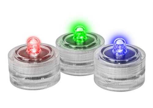 Świeczka LED IP67 RGB komplet 10 szt.