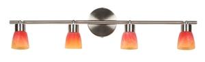 Lampa Drops Listwa 4X40W G9 Nikiel Mat Rainbow small 0