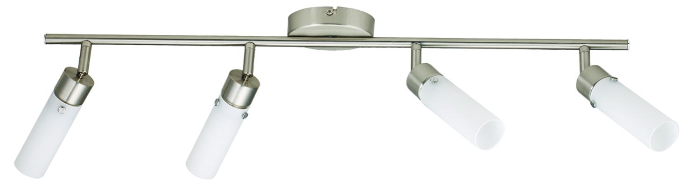 Lampa Concordia Listwa 4X9W E14 Energo Nikiel Mat