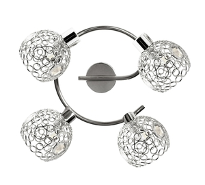 Lampa Aron Spirala 4X40W G9 Chrom Kryształ Transparent small 0