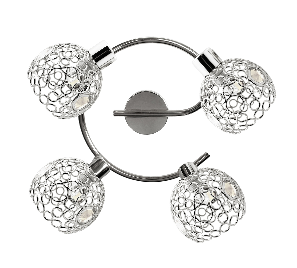 Lampa Aron Spirala 4X40W G9 Chrom Kryształ Transparent