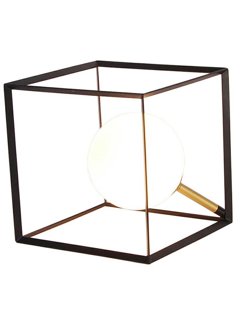 Lampa Stołowa Weert 1 Czarny Złoty 15X15X15