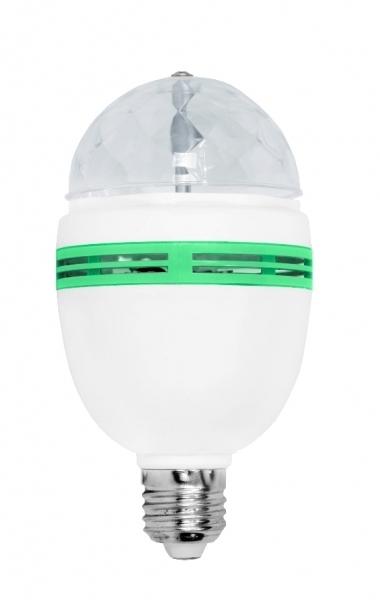 Żarówka LED Disko E27 3W RGB