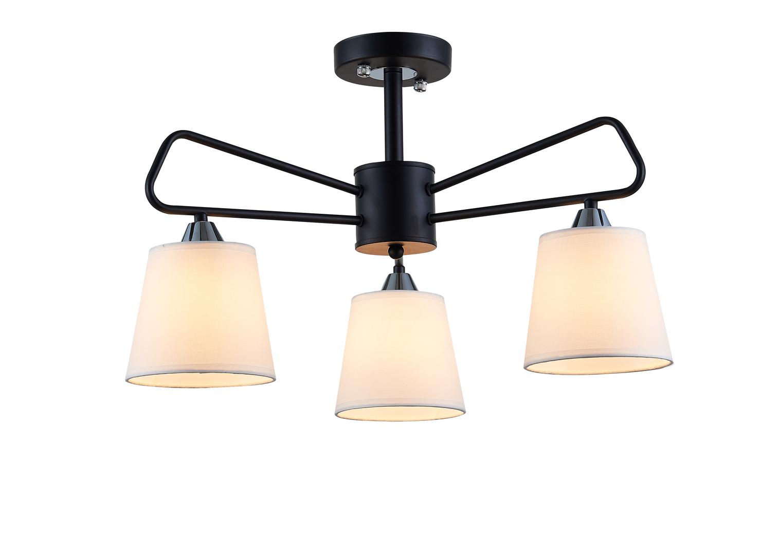 Lampa Wisząca Morley 3 Czarny