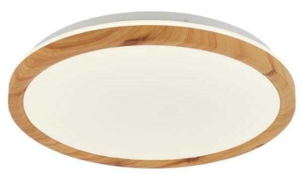 Plafon Kato 500 Mm 1 Biały Jasne Drewno