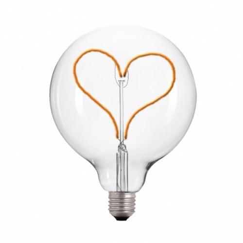 Żarówka Dekoracyjna LED 125 serce E27 3.5W 2000k 230V