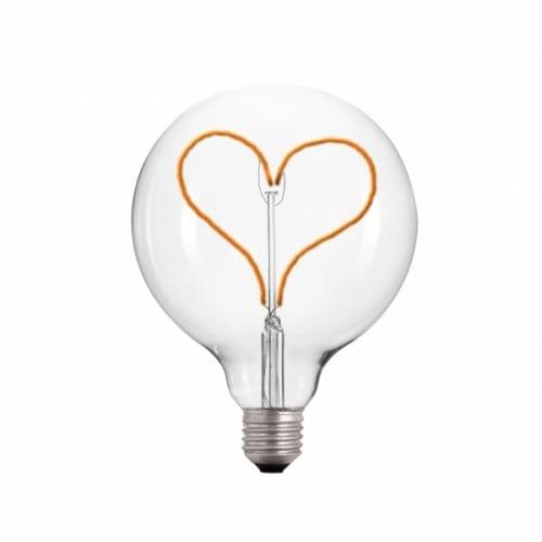 Żarówka Dekoracyjna LED 95 serce E27 3.5W 2000k 230V