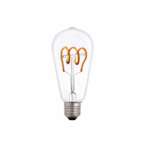 Ekskluzywna  Żarówka Dekoracyjna LED spirala E27 3.5W 2000k 230V