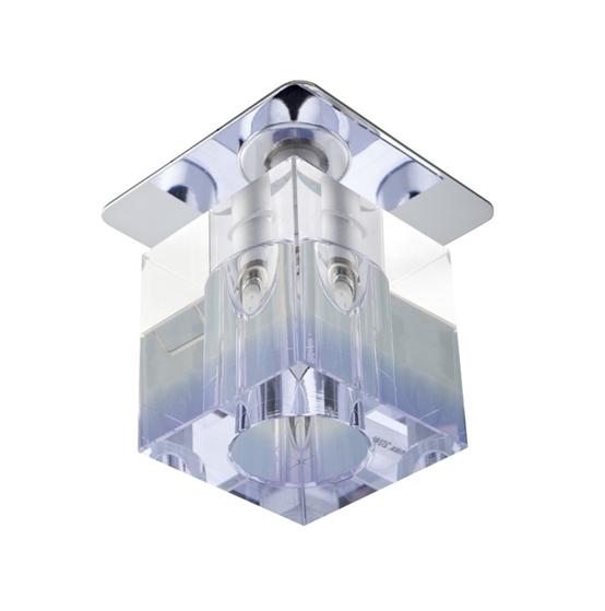 Sk-18 Ch/Pu-P G4 Chrom Opr. Strop. Stała Kryształ 20W G4 Fioletowy Pasek