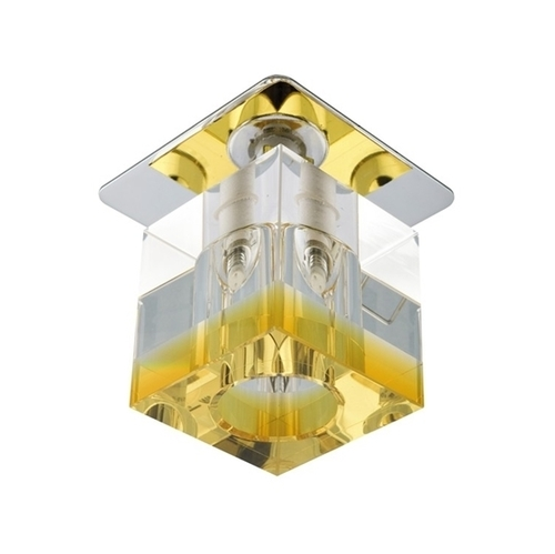 Sk-18 Ch/Or-P G4 Chrom Opr. Strop. Stała Kryształ 20W G4 Pomarańczowy Pasek