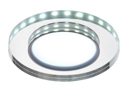 Ssp-23 Ch/Tr+Wh 8W Led 230V Ring Led Biały Oczko Sufitowe  Lampa Sufitowa Stała  Okrągła  Szkło Transparentne