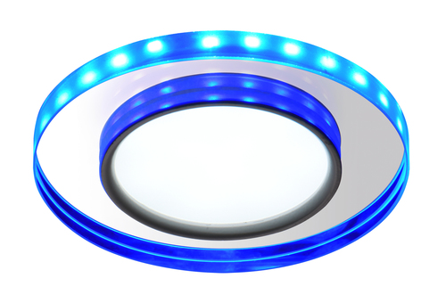 Ssp-23 Ch/Tr+Bl 8W Led 230V Ring Led Niebieski  Oczko Sufitowe  Lampa Sufitowa Stała  Okrągła  Szkło Transparentne