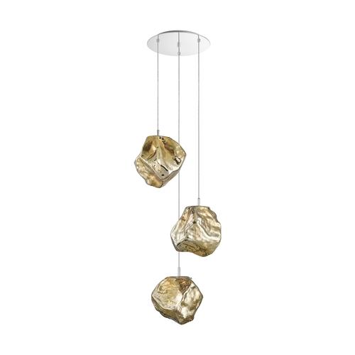 P0488 03 A B5 Hf Rock Lampa Wisząca Złota/Gold