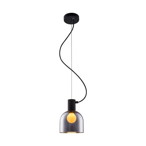 Md1918 1 S Chrome Lazaro Lampa Wisząca Czarna/Black