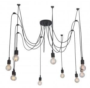 Lampa wisząca Soleto Pająk 10 ramienny Loft