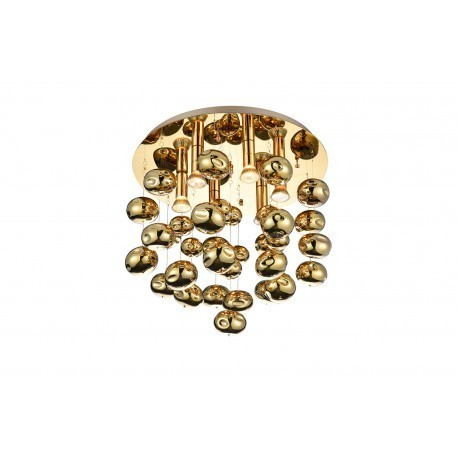 Plafon Azzardo LUVIA Złoty AZ3072