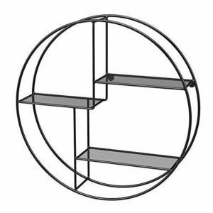 Okrągła półka ścienna, 3-poziomowa czarna LFS01BK small 1