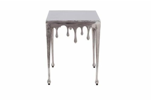 INVICTA stolik kawowy LIQUID LINE S 44 srebrny - metal