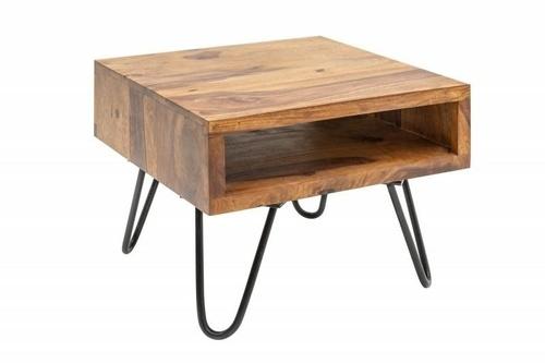 INVICTA stolik SCORPION 45 cm sheesham - lite drewno, metal