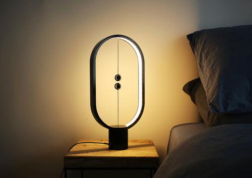 Lampa stołowa z włącznikiem magnetycznym Segula Black