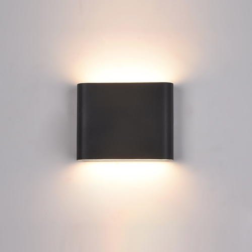 Czarny Kinkiet Zewnętrzny Romano LED