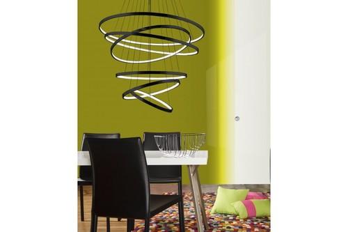 Lampa wisząca Azzardo Wheel 6 Long dimm czarna  AZ2923