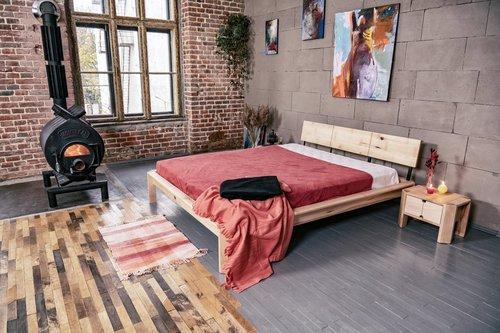 Loft łóżko do sypialni 180x200 drewno olejowane (olej lniany)