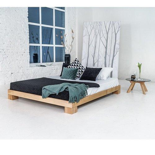 Cube łóżko sypialniane 180x200 drewno olejowane (olej lniany)