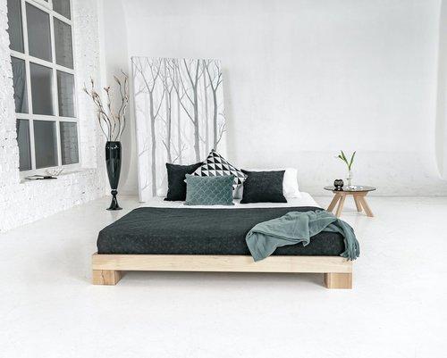 Cube łóżko sypialniane 180x200 surowe drewno