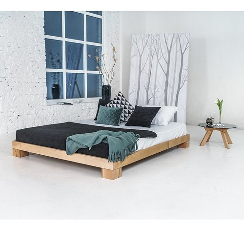 Cube łóżko drewniane 140x200 drewno olejowane (olej lniany)