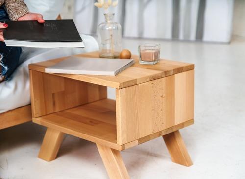 Allegro stolik nocny surowe drewno