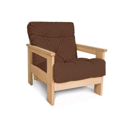 MEXICO fotel drewno olejowane (olej lniany) - brązowy