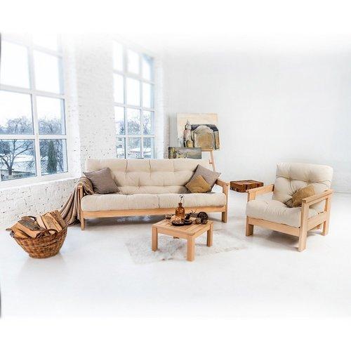 MEXICO fotel drewno olejowane (olej lniany) - krem