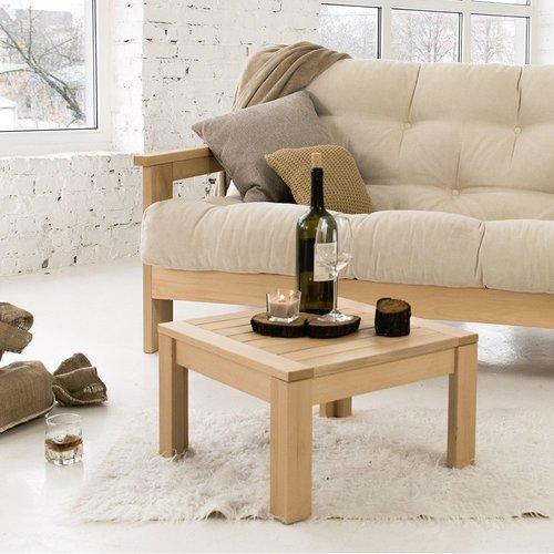 MEXICO sofa drewno olejowane (olej lniany) - śmietanka