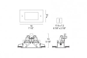 Oprawa stropowa Itre (Leucos) Faretti SD 202 2x50W GU5,3 12V small 1