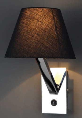 Orlando kinkiet czarny chrom 5103W/BL CR Max Light