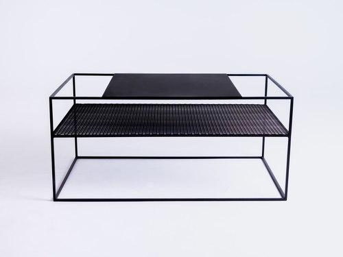 Stół kawowy MATRIX METAL 100X60 - czarny