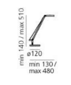 Lampa stołowa Artemide Demetra Micro Table Czarna 2700K small 3